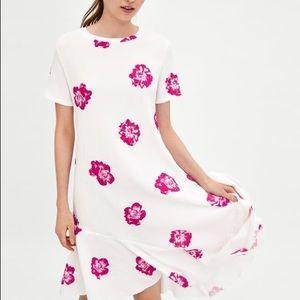 NWT Zara Trafaluc Asymmetrical Floral Dress